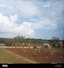 Jugoslawien Istrien Fkk Volleyball Stock 81873754