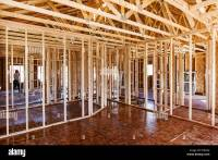Interior wall framing, construction of a Craftsman Style ...