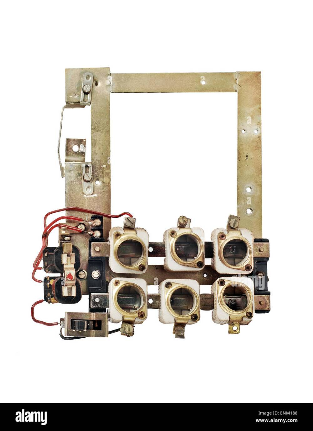 medium resolution of old fuse box isolated stock image
