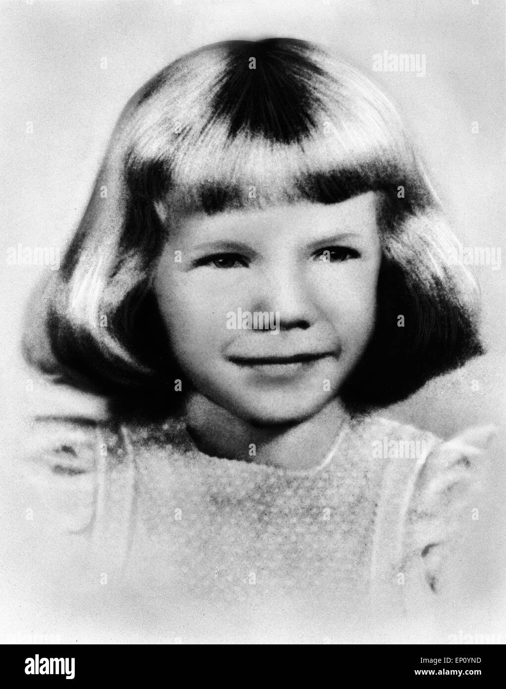 Amerikanische Sngerin Janis Joplin als Kind USA ca 1949