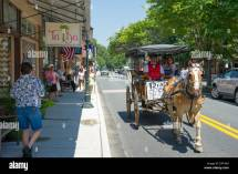 Horse And Carriage Ride In Downtown Berlin Maryland Usa