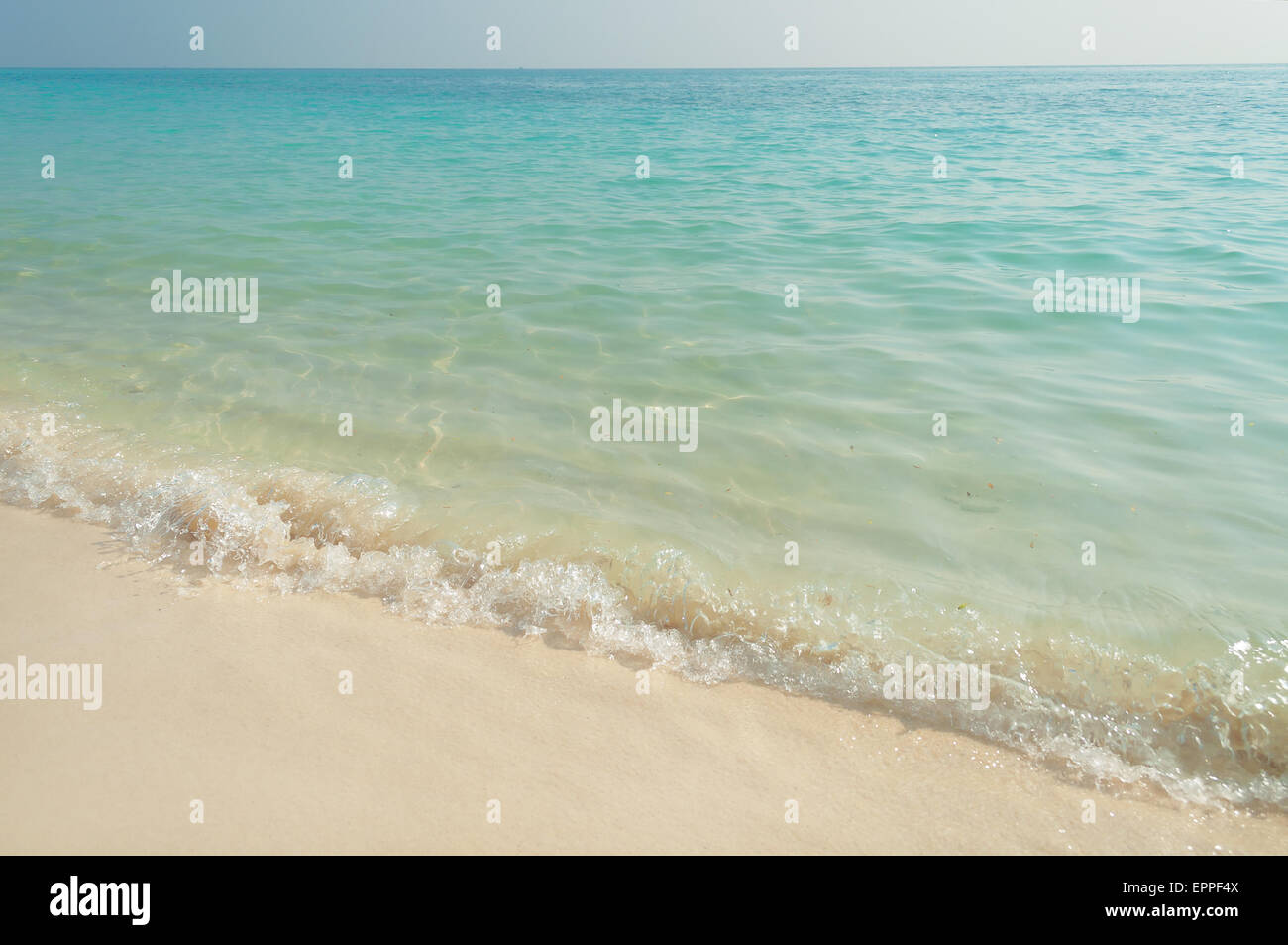 Beach On The Desert Island Koh Rin Pattaya Thailand Stock