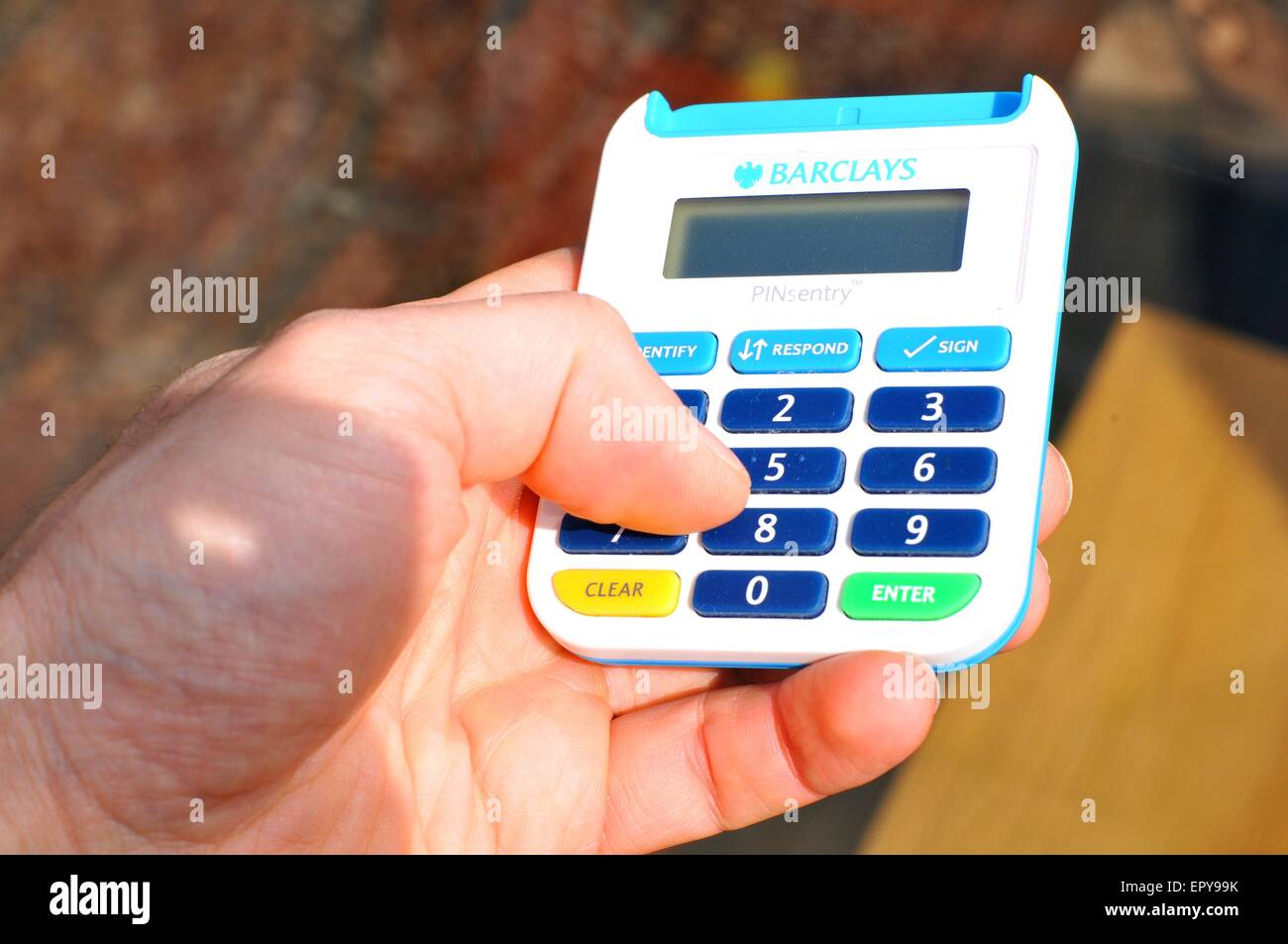 Online Banking Pinsentry Security Chip And Pin Card Reader For Stock Photo Alamy