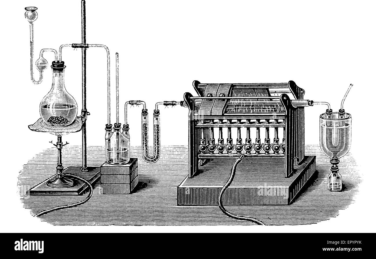 Vintage Chemistry Engraving Lab Equipment For Production