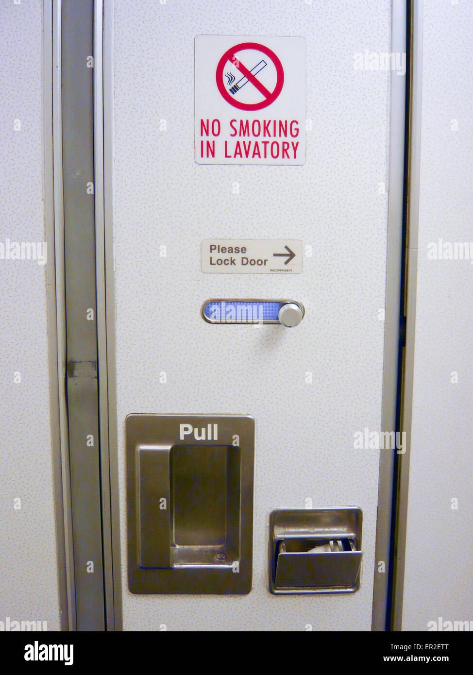 Airplane Bathroom Door