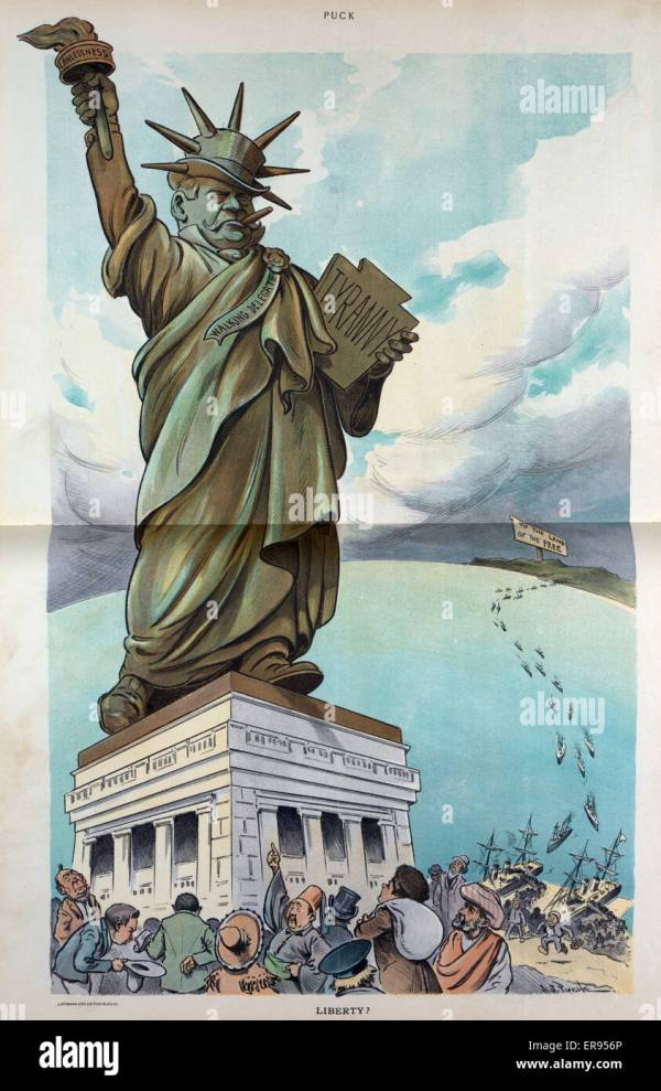 Liberty Statue Cartoon Stock &
