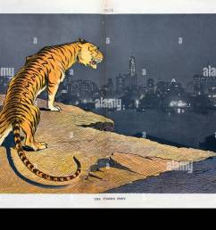 the tiger s prey illustration shows a tiger labeled tammany standing on the edge of a [ 1300 x 952 Pixel ]