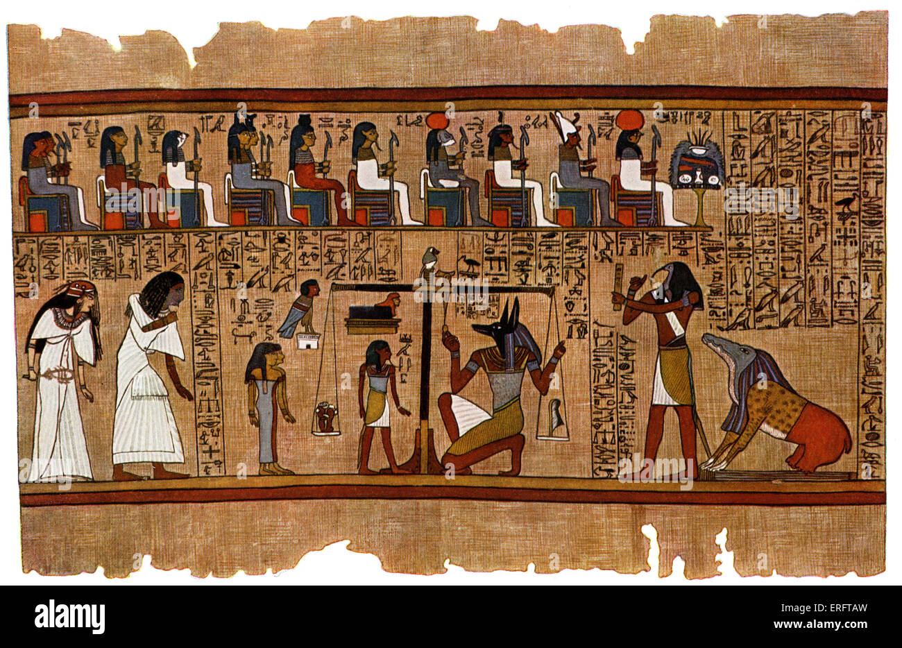 Judgement Of The Dead Before Osiris