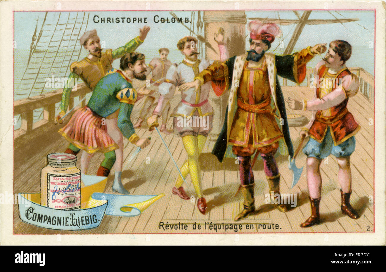 Christopher Columbus Confronts A Mutiny Aboard Ship On His