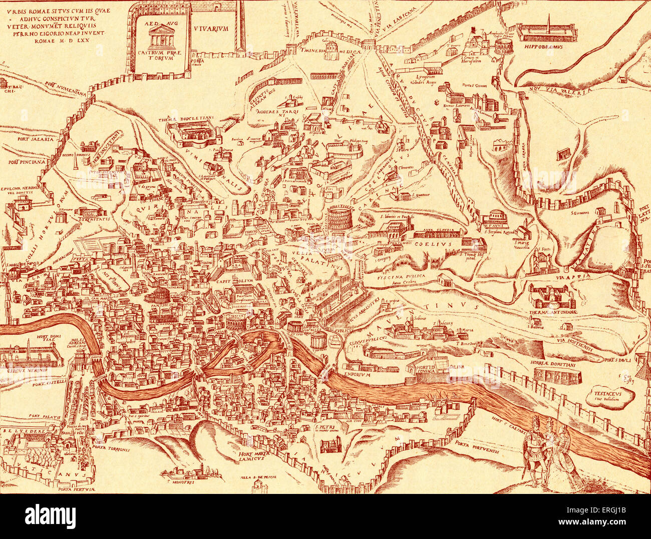 Map Of City Of Rome And Its Ancient Monuments