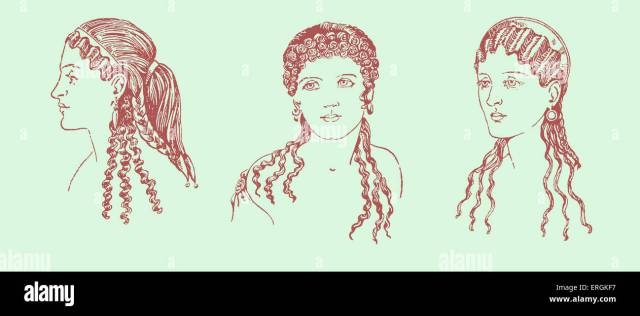 ancient greek hairstyles. example of ancient greek female