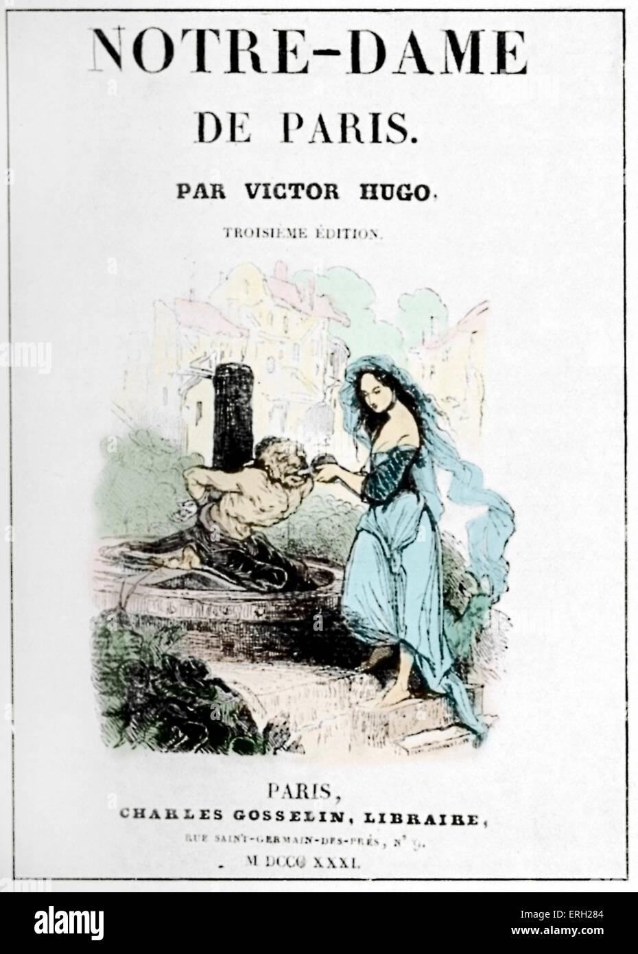 Notre-dame De Paris Victor Hugo : notre-dame, paris, victor, Victor, Novel, Notre, Paris, Front, Cover, 1831., French, Author, February, Stock, Photo, Alamy