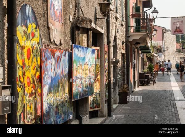 Italian Landscape Paintings Stock & - Alamy