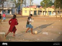 Kids Playing Football in India