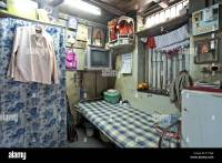 One Room House Textile mill Chawl Mumbai India Asia Stock