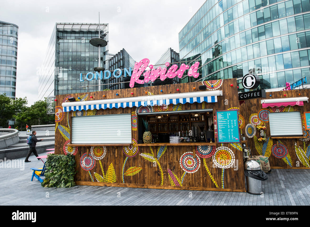 London Riviera Pop Up Restaurant next to City Hall in