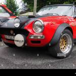 Turin Italy 14th June 2015 Closeup View Of A Fiat 124 Spider Stock Photo Alamy