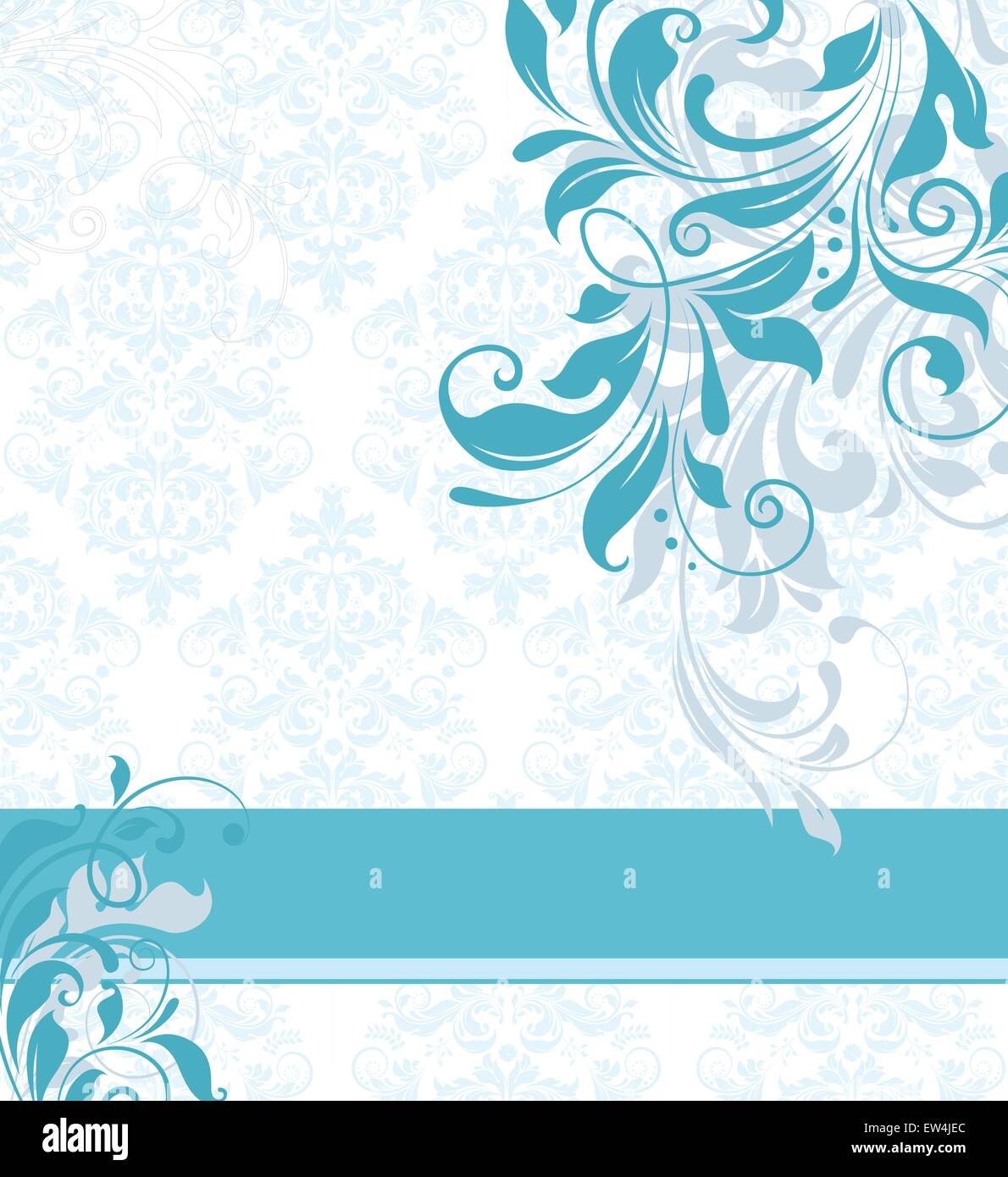 https www alamy com stock photo vintage invitation card with ornate elegant abstract floral design 84310196 html