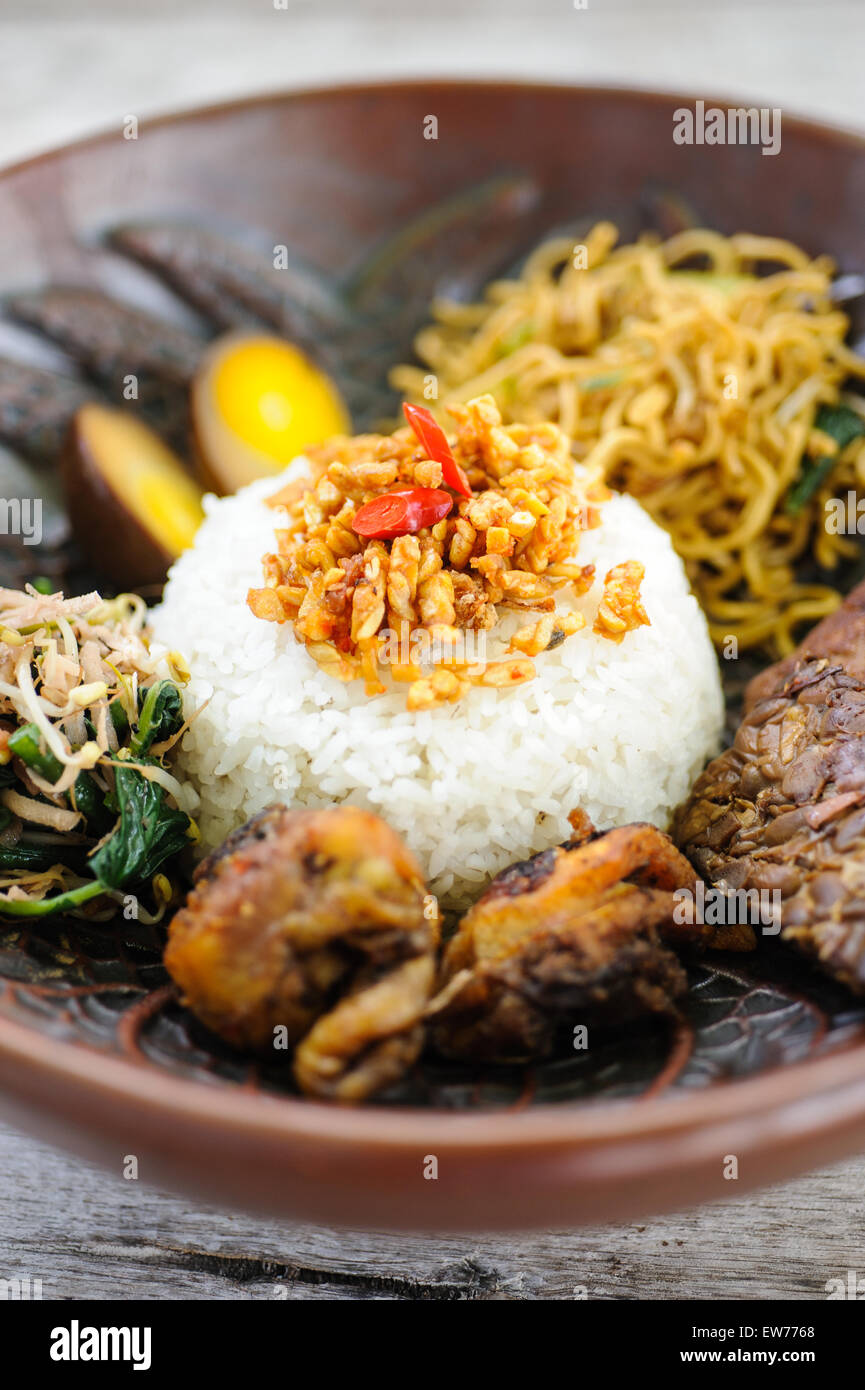 Nasi Campur Png : campur, Campur, Resolution, Stock, Photography, Images, Alamy