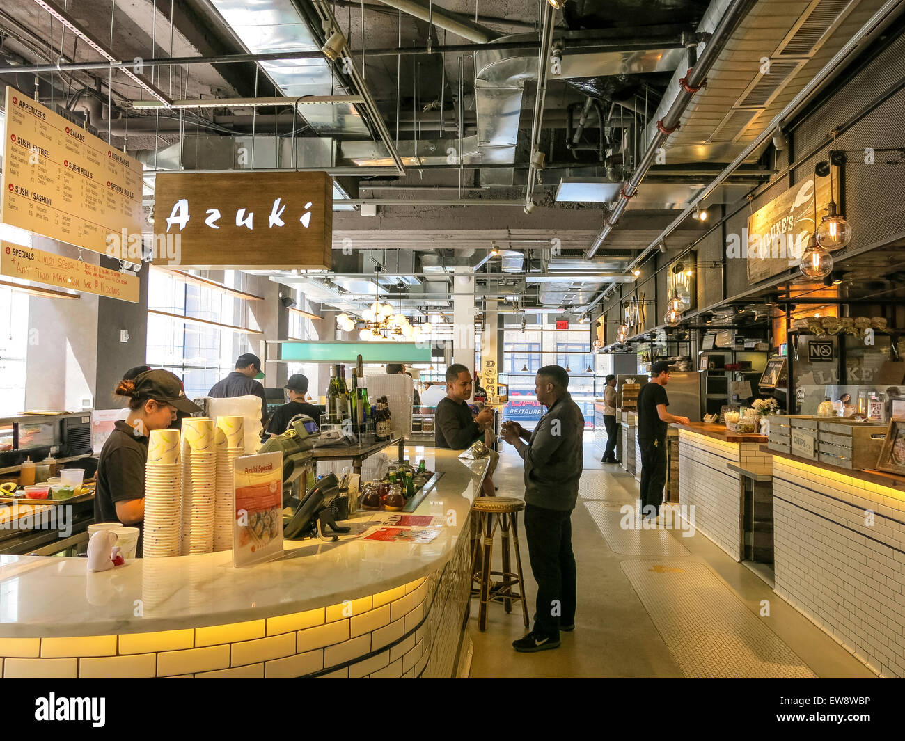 City Kitchen Food Market Times Square NYC Stock Photo 84403418  Alamy