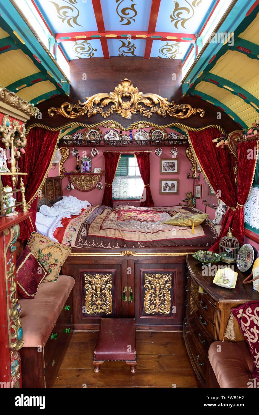 Gypsy caravan interior Stock Photo 84452958  Alamy