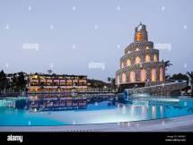 Swimming Pool Water Slide Turkey Stock &