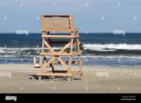 A lifeguard chair on the beach in Wildwood Crest, New ...