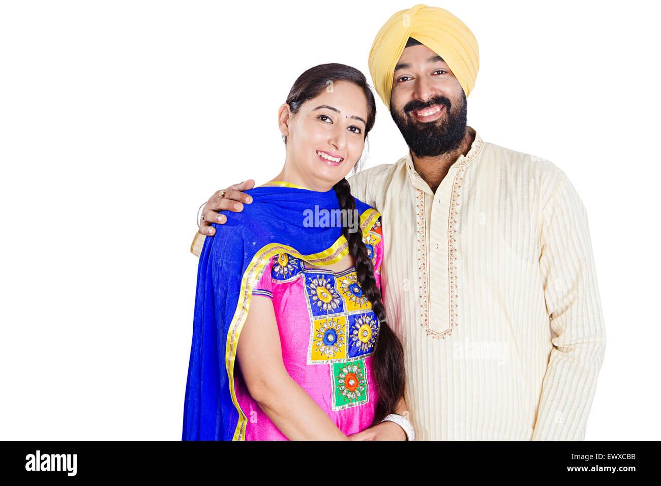 punjabi couple stock photos