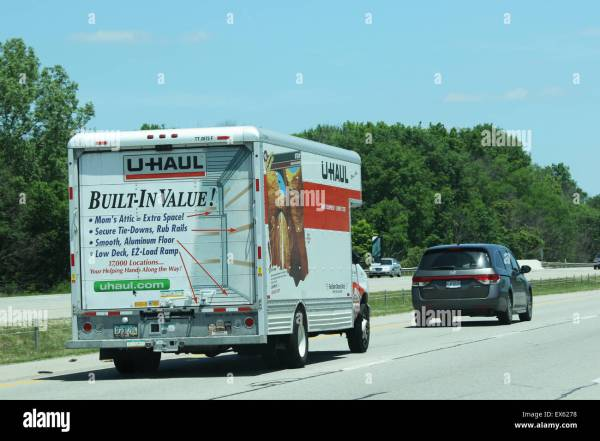 U-haul Moving Truck Highway Stock Royalty Free 84956012 - Alamy
