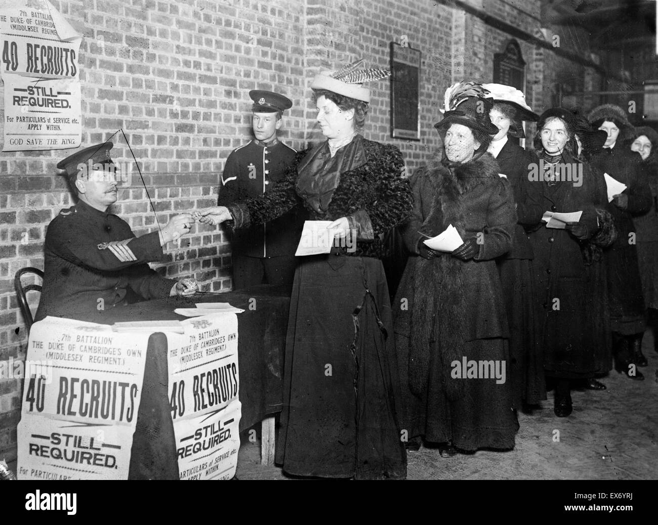 Women Enlisting For War Work England World War One