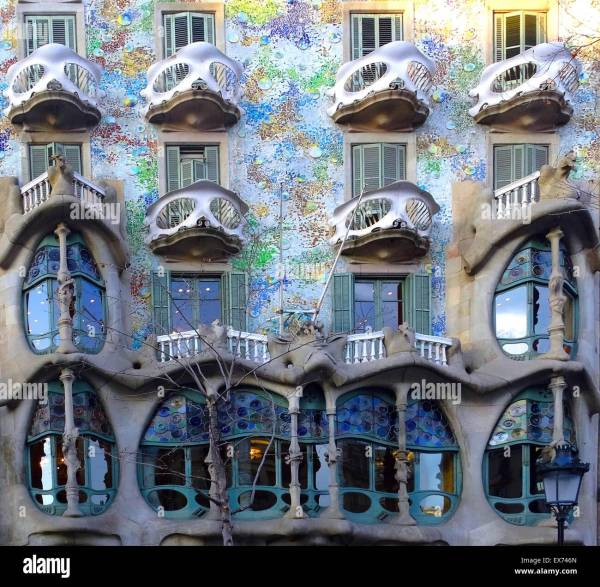 Casa Batll In Barcelona Spain Built 1877 Antoni Stock 84979517 - Alamy