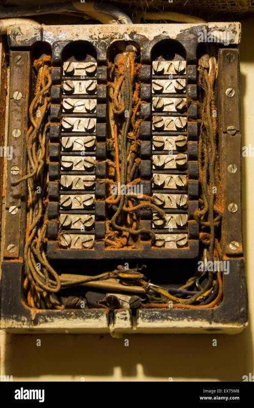 small resolution of old fuse box stock photos old fuse box stock images alamy an old fuse box