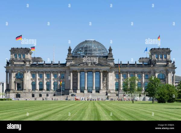Reichstag German Parliament Building In Berlin Germany