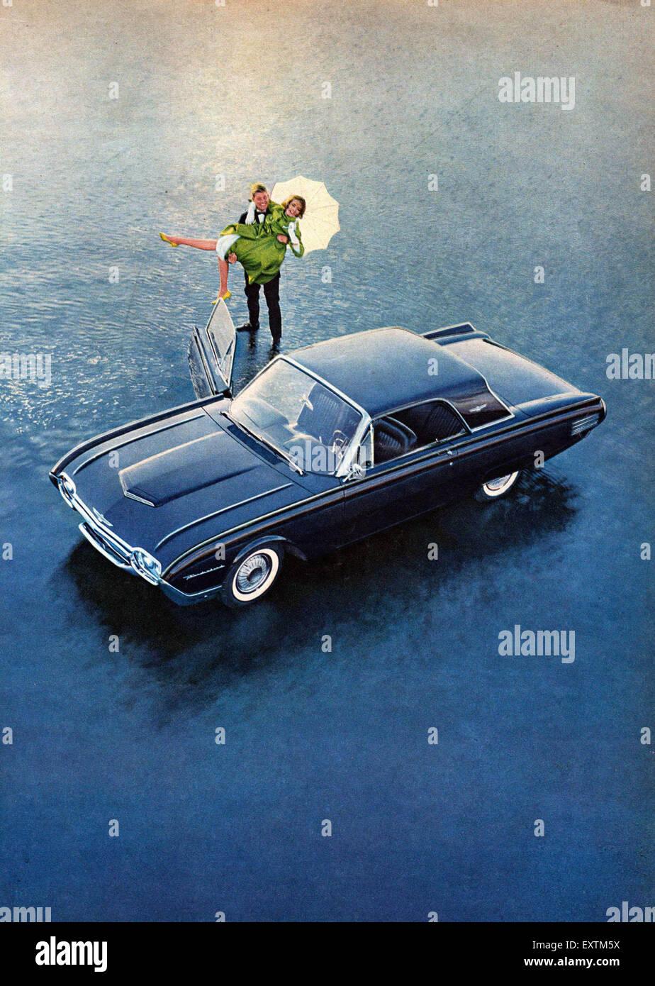 1960s Thunderbird : 1960s, thunderbird, Thunderbird, Magazine, Advert, Stock, Photo, Alamy