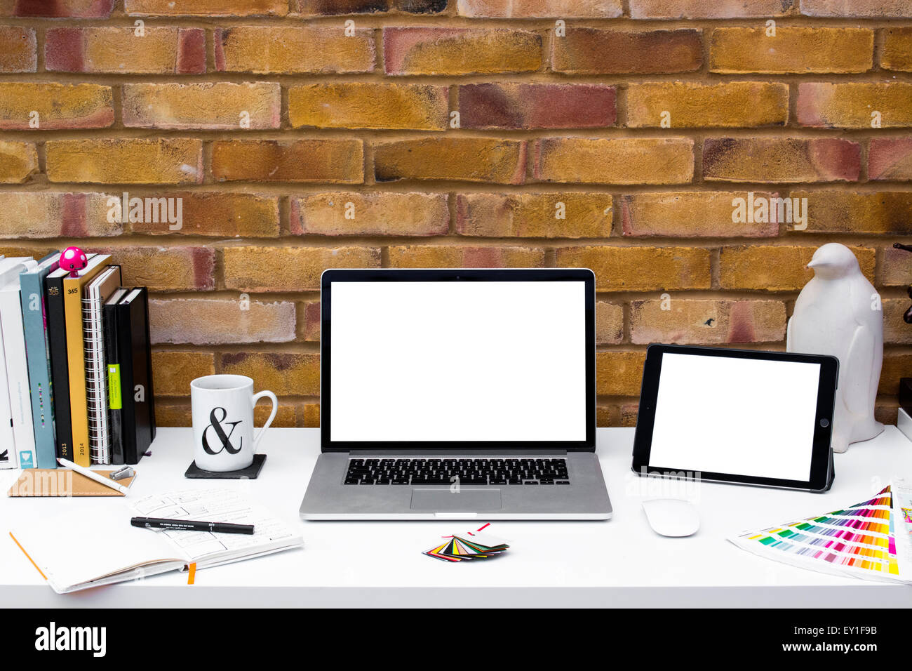 Creative Home Office space with graphic designers desk