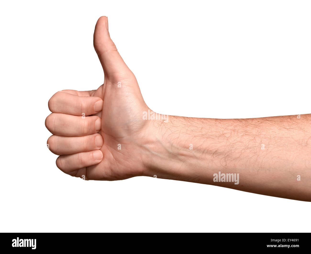 a male hand in