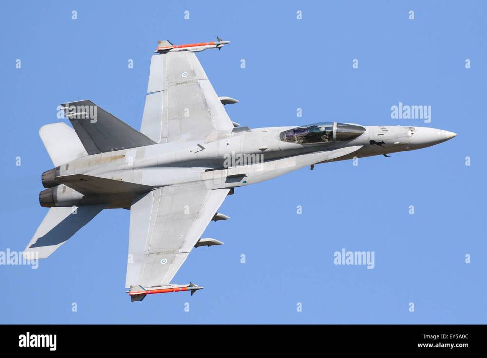 medium resolution of an f18 hornet at the royal international air tattoo stock image
