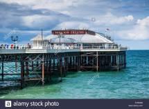 Pier North Norfolk Coast Stock &