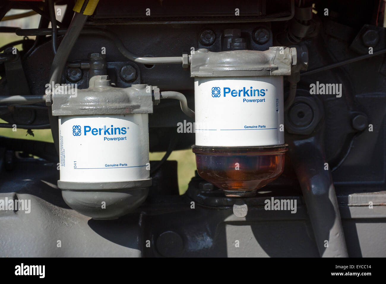hight resolution of fuel filters on a massey ferguson vintage tractor stock image