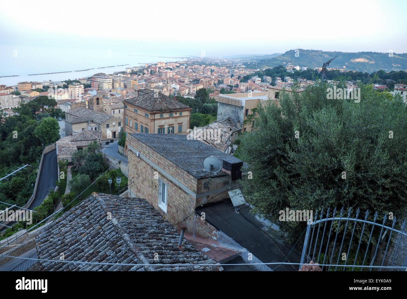 Vista Of Seaside Town Grottammare Italy Stock Photo