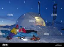 Night In Igloo La Plagne Ski Resort Savoy France
