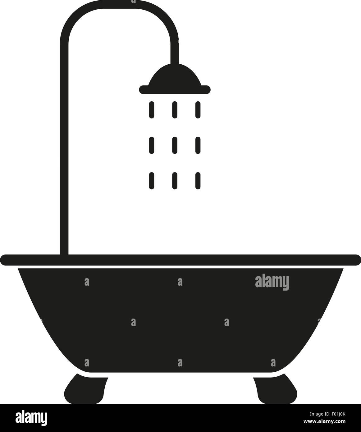 The Shower Icon Bathroom Symbol Flat Stock Vector Image Art Alamy