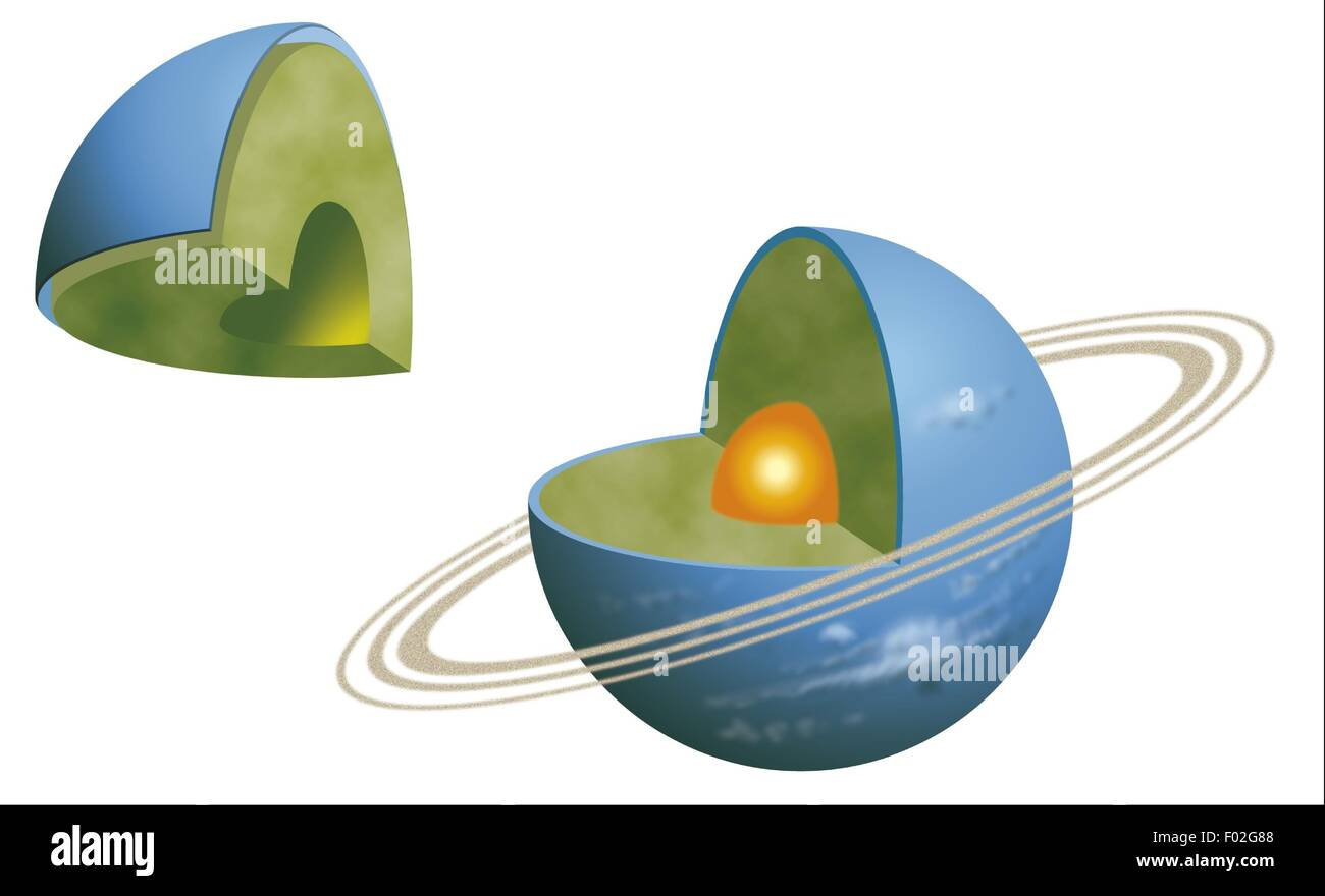 hight resolution of neptune neptune interior structure solid core icy methane ammonia and water mantle color diagram
