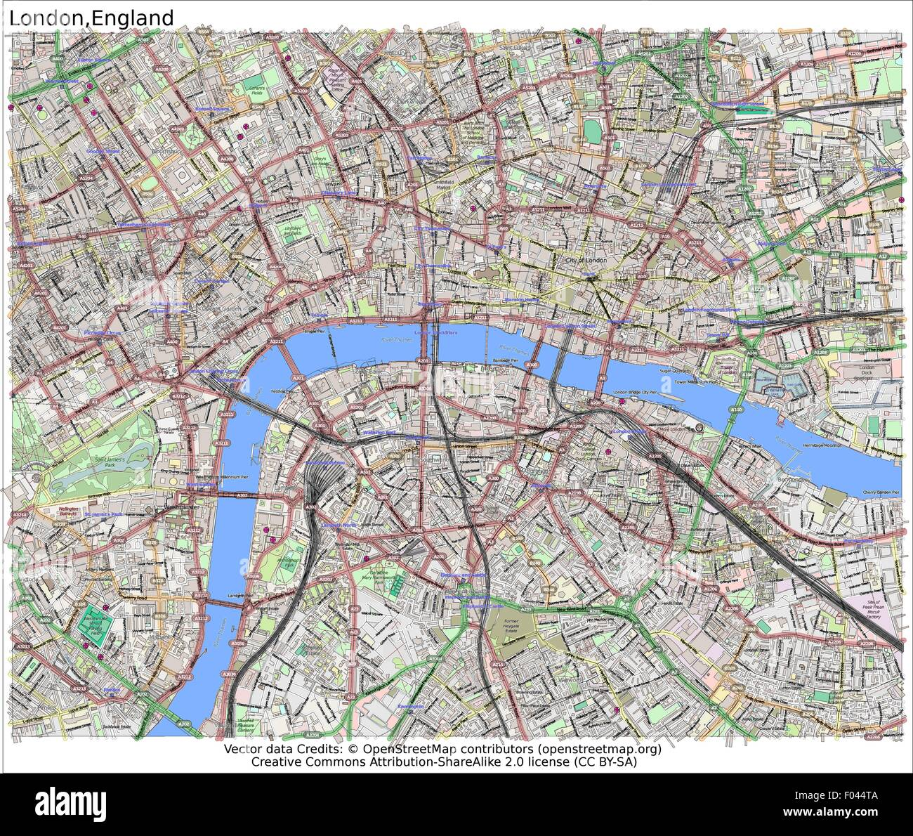 Map Of The City Of London.London City Map