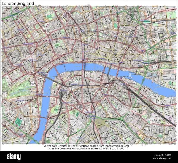 London England City Map