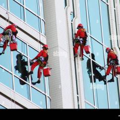 Office Chair Instructions Pottery Barn Leather Chairs Window Cleaners Cleaning Windows Of Modern Tower High Rise Stock Photo: 86268349 - Alamy
