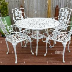 Antique Cast Iron Garden Table And Chairs Kohls Anti Gravity Chair 39 99 White In A Back