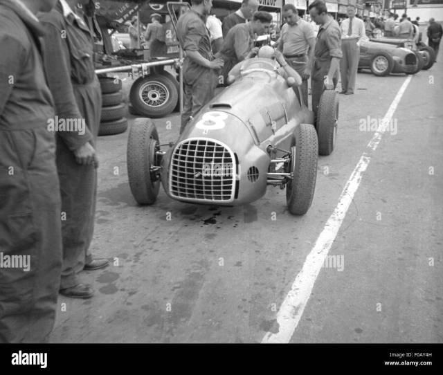 Alberto Ascari In His Ferrari  Stock Image