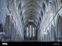 Vaulted ceiling of the Anglican Southwark Cathedral in ...