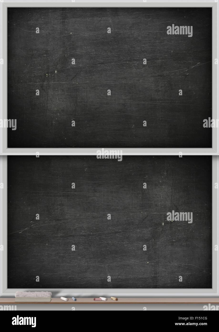 a rectangular black chalkboard